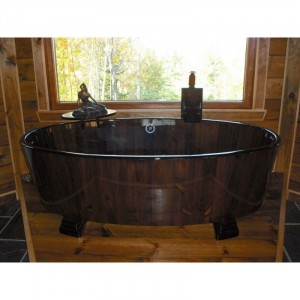 "Arteco - ART-BATHHERMESI Bathroom Wooden Bathtub - Hermes I - 70"" x 36"" x 28"""