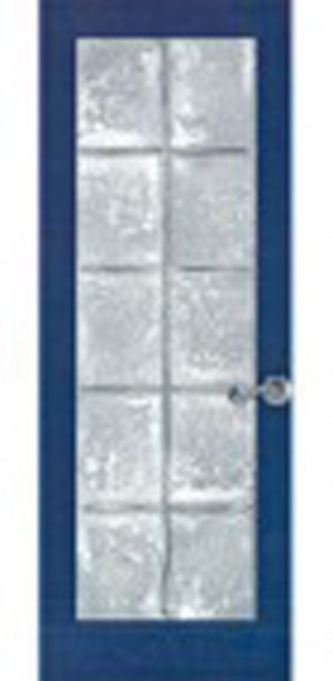 "Interior Baltique Door With Thermoforme Glass In Pine Jointed (30""x80"")"