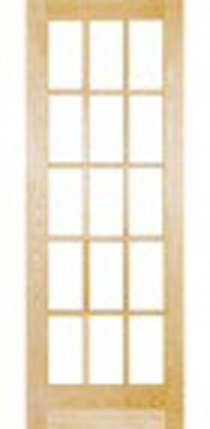 "Interior 812 Clear Glass Door In Pine Jointed (30""x80"")"