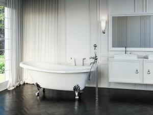 "Mirolin CF1020 Bayla2 Free Standing Bath - Soaker 68"" White"