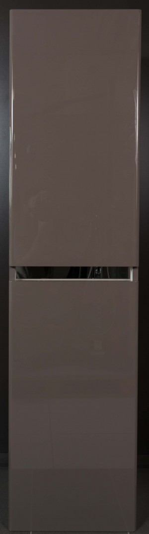 Bathroom Vanity Cabinet,  Hi Gloss Grey Brown  15-3/4""