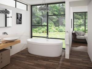 "Mirolin CF2006 Cari Free Standing Bath - Soaker 60""  White"