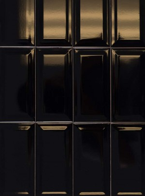 "Ceramic Tiles for Wall,  Black  (3""x6"")"