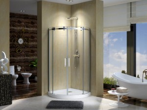"Aluminum Shower Enclosure CLD4142, Chrome  32"" (Base Included)"