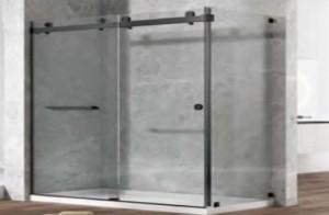 """Covey DS01 Shower Door Black (75""""x60"""")"""