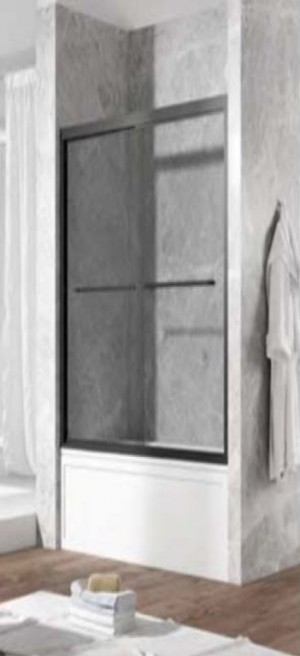 "Covey DS06B Bathtub Door Brushed Or Chrome (75""x60"")"