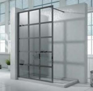 """Covey W01 Shower Door Black (76""""x48"""")"""