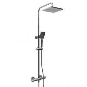 """Riobel CSTQ57 Duo-Kit Collection Duo Shower Rail With Type T (Thermostatic) ½"""" External Bar Chrome"""