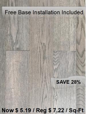 Engineered Wood Dark Grey/ Free Base Installation