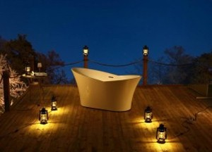 "Freestanding Acrylic Bathtub, Glossy White 67"""
