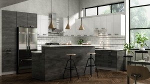 Classic Style Kitchen (14'x10') In Laminate With Dark Wood Or Glossy White Door