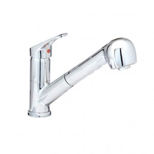 Baril Pro CUI-0702-12L-CC Single Lever Kitchen Faucet With Pull-Out Spray Chrome