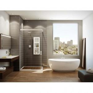 "Maax Serenade F 105516 Freestanding Acrylic Bathtub White 66-1/2"""