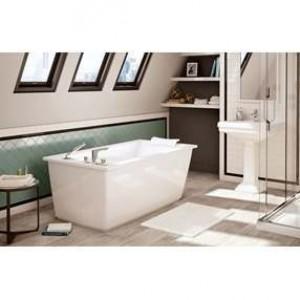 """Maax Optik 6032 F 105571 Freestanding Acrylic Bathtub White 60"""""""