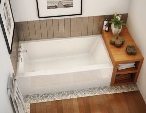 "Maax Rubix (AFR) 105704L Alcove Bath Acrylic Left Drain White 60"""