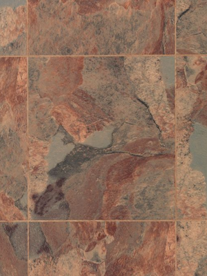 "Karndean Floating Vinyl Flooring Glue-Down System Knight Tile Collection Copper KARNDEAN-T84 (12""x12""x2mm)"