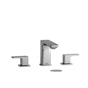 "Riobel EQ08 Equinox Collection Double Hole 8"" Lavatory Faucet Chrome"
