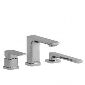 Riobel EQ10 Equinox Collection 3-Piece Deck-Mount Tub Filler With Hand Shower Chrome