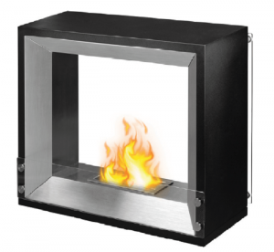 FP-030S Free Standing Ethanol Fireplace with 1 x 1.3L Double-layer 304SS Burner and the extinguish tool