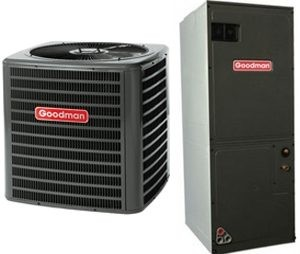 Goodman Central Heat Pump 3.5 Ton Seer 14 with Air Handler Included (GSZ140421-ARUF43C14)