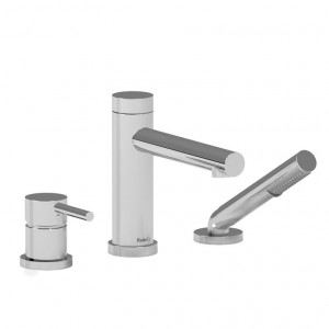 Riobel GS10 GS Collection 3-Piece Deck-Mount Tub Filler With Hand Shower Chrome
