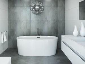 "Mirolin CF1018 Ilusa Free Standing Bath - Soaker 59 ½""  White"