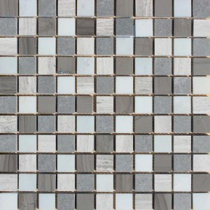 Interlocking Ceramic,Arctic Storm Mosaic1x1 Honed (SMOT-AS-1X1H)