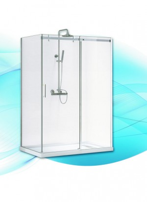 "Acrylic Shower Door Inspiration (48""x36"")"