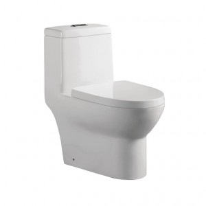 Jade TS-153 Arielle Collection 1-Piece 0.88/1.2 GPF Dual Flush Elongated Toilet in White
