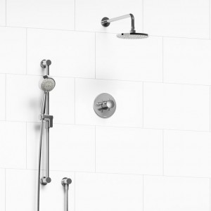 "Riobel 323EDTMC Edge-Kit Collection Type T/P ½"" Coaxial 2-Way System With Hand Shower And Shower Head Chrome"