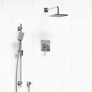 """Riobel 323ZOTQC Rio-Kit Collection Type T/P ½"""" Coaxial 2-Way System With Hand Shower And Shower Head Chrome"""
