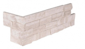 "Ledger Panel - Corner, White Oak 3D Honed6"" x 18"" x 6""(LPNLMWHIOAK624COR-3DH)"