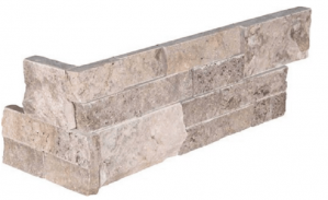 "Ledger Panel  - Corner, Silver Travertine6"" x 18"" x 6"" (LPNLTSIL624COR)"
