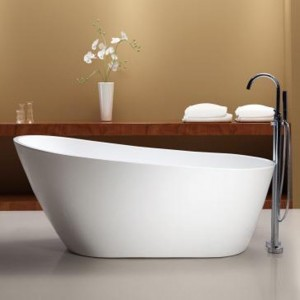 Neptune Freestanding Acrylic Bathtub Malaga Collection 66""