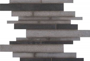 Interlocking Pattern,Mixed Finish Mosaic Mystic Gray (SMOT-MG-ILMF10MM)