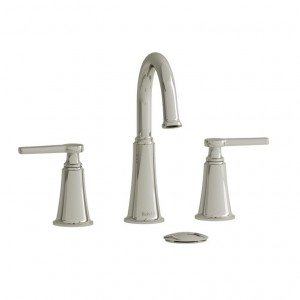 "Riobel MMRD08J Momenti Collection Double Hole 8"" Lavatory Faucet Polished Nickel"