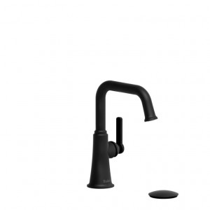 Riobel MMSQS01J Momenti Collection Single Hole Lavatory Faucet Black
