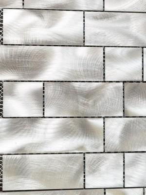 Interlocking Stainless Steel, Mesh-mounted Mosaic Wall Tile (JR-50)