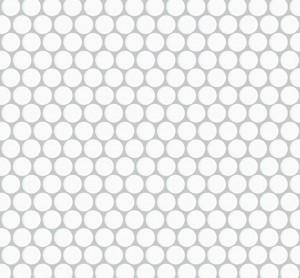Interlocking Ceramic,Mesh-mounted Mosaic Wall TilePenny Round 12X12X1 (MCP101)