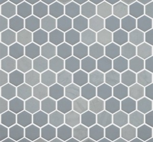 Ceramic Mosaic ,Mesh-mounted Wall TileOnix Hexagon  (OPSTGRHEX)