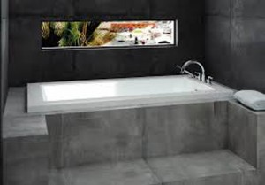 Neptune Drop-In Acrylic Bathtub Munich Collection 60""
