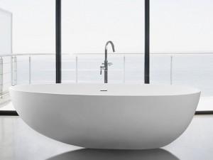 "Mirolin FSW104 Nerissa Free Standing Bath - Soaker 70"" White"