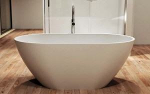 Tomlin - TOMEMILY-BAT Freestanding Quartz Bath In White 60-1/2""