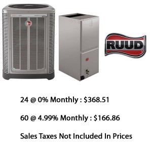 Ruud Central Heat Pump 2 Ton Seer 16 With Base Installation*