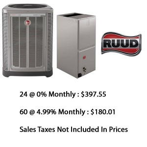 Ruud Central Heat Pump 2.5 Ton Seer 16 With Base Installation*