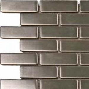 Interlocking Ceramic,Metal Silver 0.75x2.5  (SMOT-MET-SBRICK)