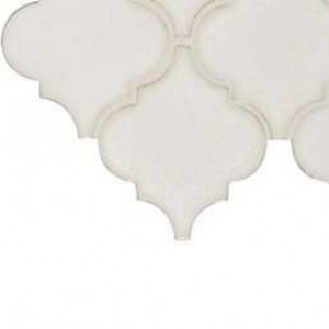 Interlocking Ceramic,Antique White Arabesque 8mm(SMOT-PT-AW-ARABESQ)