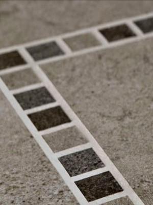 "Karndean Floating Vinyl Flooring Glue-Down System Portland Stone Collection Grey / Silver KARNDEAN-ST13 (12""x18""x2mm)"