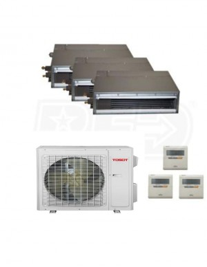 Tosot (TM24H4O/(3)TM09HFDI) 3 Zone Gainable 24000BTU Seer 22