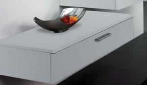"Bathroom Vanity Cabinet,  Hi Gloss White  16-1/2"""